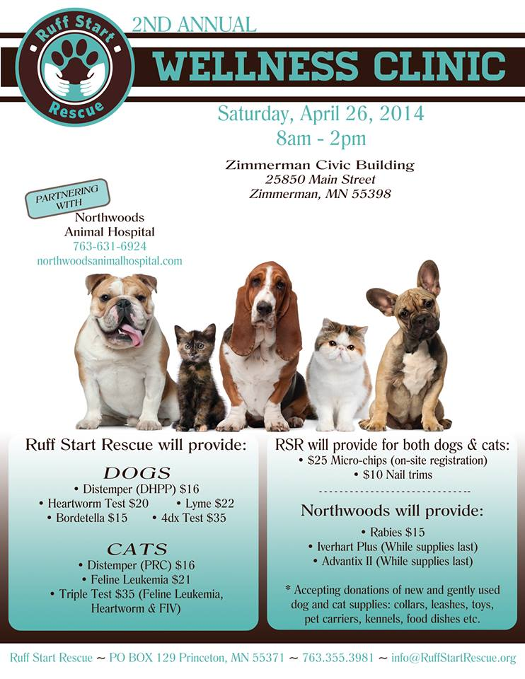 Ruff Start Rescue 2nd annual wellness clinic